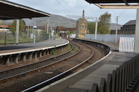 The Rail lines at Carnforth