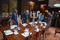The wonderful dining room full of antique furniture and a wealth of history