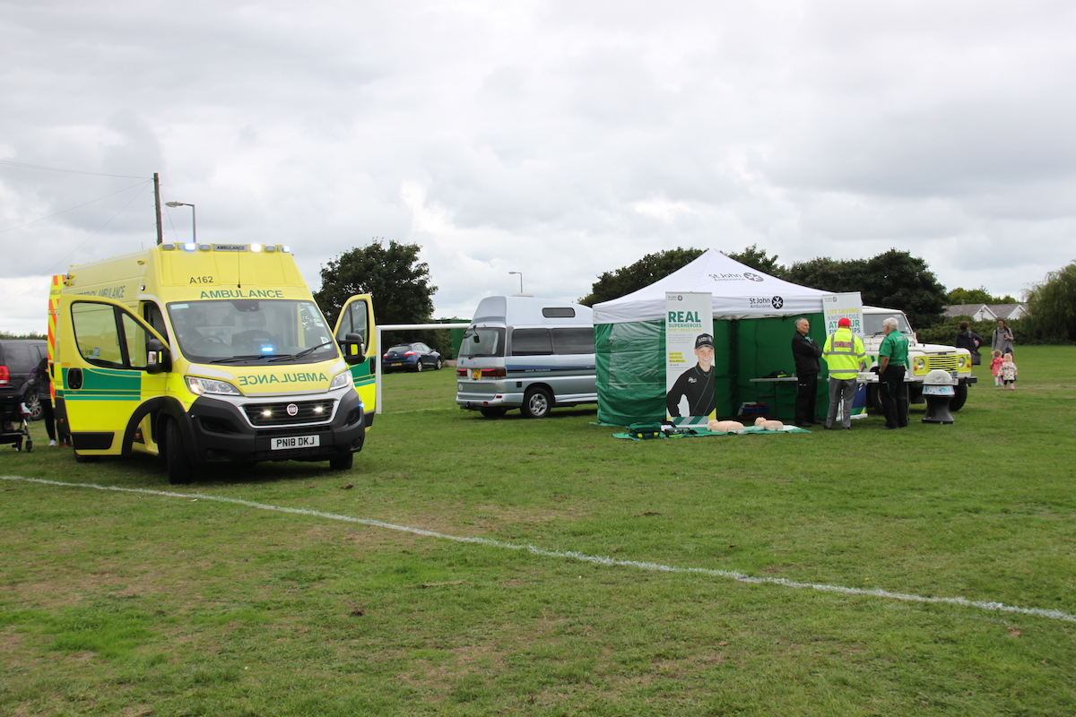 As always, St Johns Ambulance were out in Force